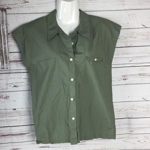 Kate spade Saturday army green 100% cotton shirt S